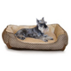 KH Mfg Self-Warming Lounge Sleeper Brown Dog Bed L