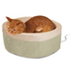 KH Mfg Thermo-Kitty Sage Heated Cat Bed Large