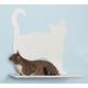 Cat Silhouette Cat Shelves Prance White