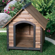 Outback Country Lodge Dog House 32x40x34 Walnut