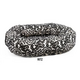 Bowsers Ritz Style Donut Dog Bed XLarge Ebony