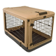 The Other Door Steel Dog Crate w/Pad SM Tan/Black