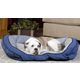 KH Mfg Bolster Couch Blue Dog Bed Small