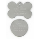 Stainless Steel Pet ID Tag for Large Pets Bone