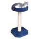 Feline Recliner Scratch Post w/Round Bed Tan