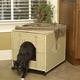 Wicker Cat Litter Pan Cover Jumbo Dark Brown