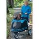 Roadster Pet Stroller Black Blue