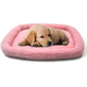 Snoozzy Baby Sheepskin Dog Crate Bed Blue