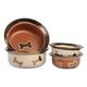 Napa Matte Metallics Dog Bowl 2 Cup Copper