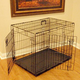Majestic Double Door Wire Dog Crate 48x30x32