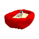 Majestic Pet Sherpa Bagel Dog Bed XL Khaki