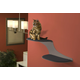 Refined Feline Cat Clouds Cat Shelf Left Titanium