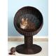 Refined Feline Kitty Ball Bed Espresso
