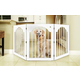 Universal Free Standing Wood Pet Gate  Cherry