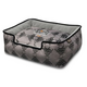 PLAY Royal Crest Black Lounge Dog Bed XLarge