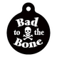 Bad to the Bone Pet ID Tag Small