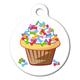 Cupcake and Bones Pet ID Tag Large