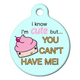 Cute as a Cupcake Pet ID Tag Large