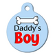 Daddys Boy Pet ID Tag Large