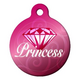 Diamond Princess Pet ID Tag Large