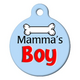 Mamas Boy Pet ID Tag Small