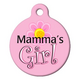 Mamas Girl Pet ID Tag Small