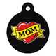 Mom Heart Tattoo Pet ID Tag Large