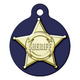 Sheriff Badge Pet ID Tag Small