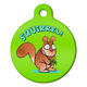 Squirrel Pet ID Tag Large