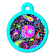 Swirly Paisley Pet ID Tag Small