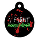 Zombie Fighter Pet ID Tag Large