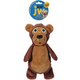 JW Pet Crackle Heads Bart Bear Dog Toy Medium