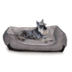 KH Mfg Self-Warming LoungeSleeper Black Dog Bed LG