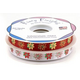 Pointsettia Printed Ribbon White