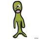 Tuffys Alien Series Dog Toy Lieutenant Splock