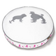 PLAY Heels and Boots White Round Dog Bed Medium
