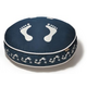 PLAY Footprint Blue Round Dog Bed Medium