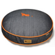 PLAY Denim and Orange Round Dog Bed Large