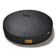 PLAY Denim and Brown Round Dog Bed Large