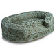 Crypton Cherries Teal Oval Bolster Dog Bed Large