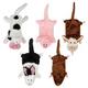 Grriggles Farm Friend Unstuffies Dog Toy LG Rabbit