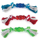 Grriggles Rope n Rubber Bone Dog Toy RED