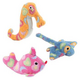 Zanies Sea Charmer Stingray Dog Toy PNK