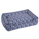 Jax and Bones Waverlee Blue Lounge Dog Bed XLarge
