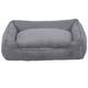 Jax and Bones Grey Corduroy Lounge Dog Bed XLarge