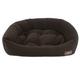 Jax and Bones Velour Espresso Dog Bed XLarge