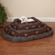 Slumber Pet Embroidered Dog Crate Bed XL BRN