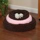 Slumber Pet Swirl Plush Donut Dog Bed LG CHO