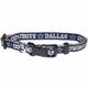 Dallas Cowboys Silver Trim Dog Collar Medium