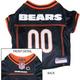 Chicago Bears Orange Trim Dog Jersey Large